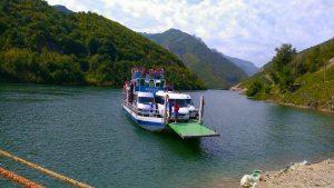 Ferry Berisha in Koman Lake